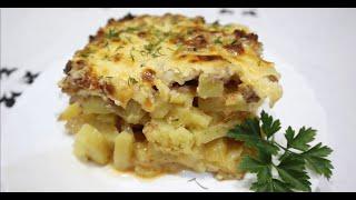 Картошка в духовке с фаршем | Картофельная запеканка с фаршем и сыром
