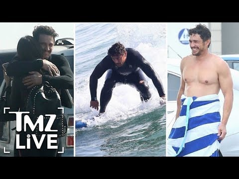 James Franco Hits The Beach With His Girlfriend!  TMZ Live