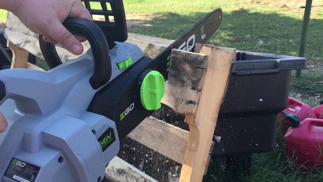 EGO 16 in  56-Volt Lithium ion Cordless Chainsaw with 5 0Ah Battery and  Charger Included