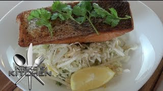 Salmon With Clean Asian Slaw - Nicko's Kitchen