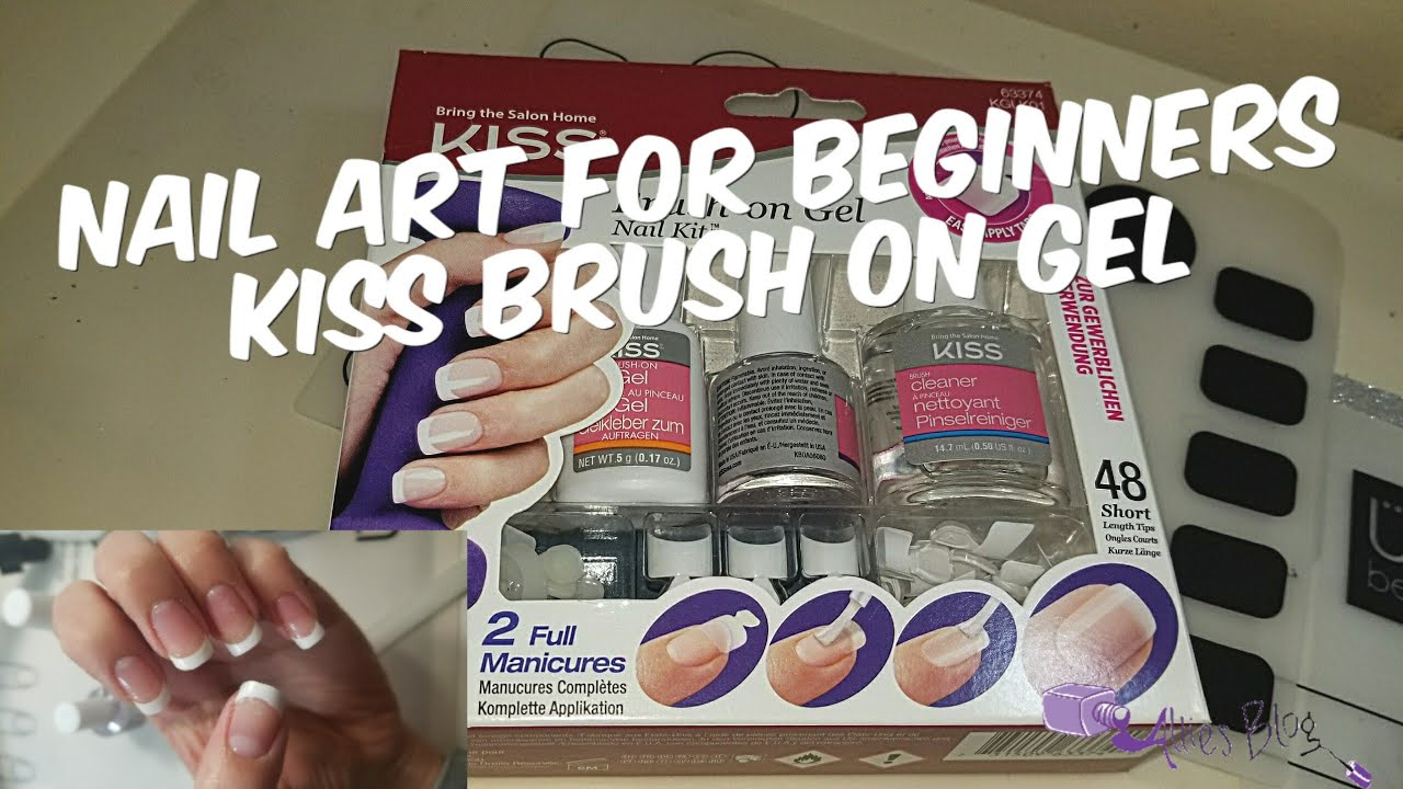 Nail art for beginners | kiss brush on gel tips | How to - YouTube