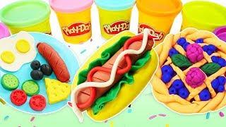 Play doh hamur oyunları. Oyun hamuru ile yemekler