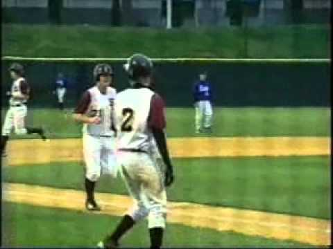 2005 Laser Show at Joe Bruno Stadium. Colonie Raiders Baseball vs Shaker. Crisafulli goes yard
