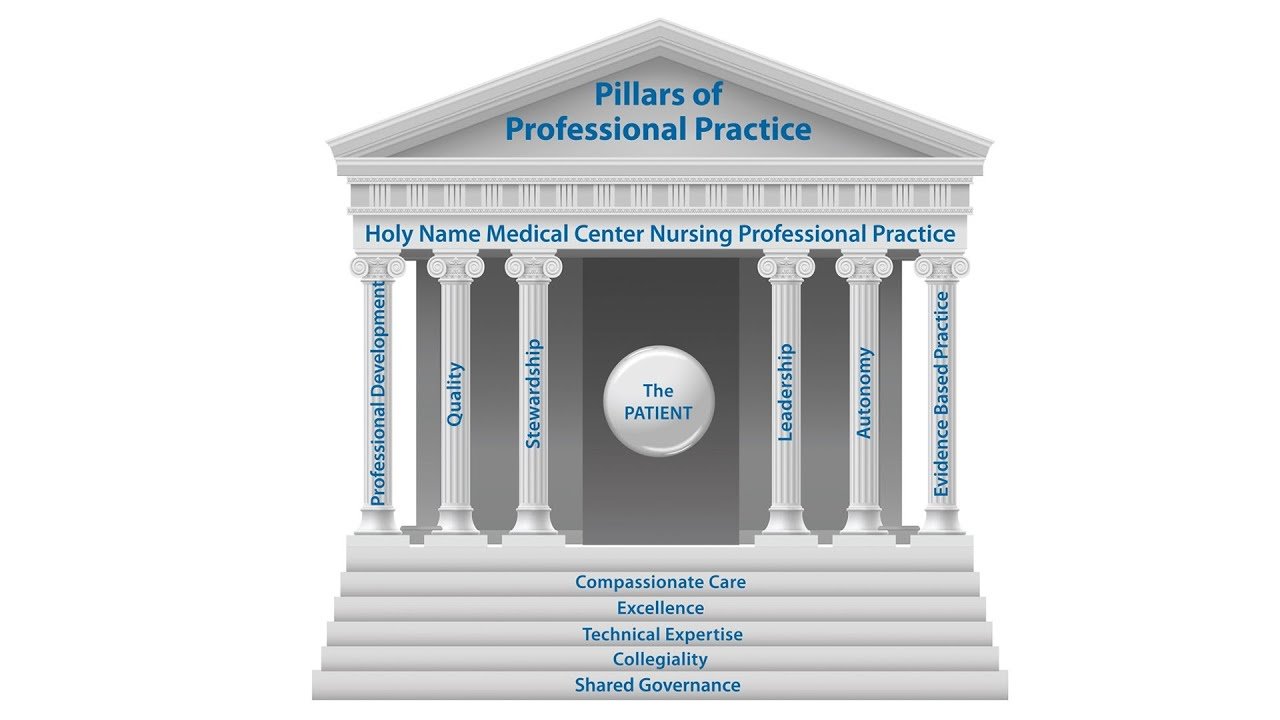 The Pillars of Nursing at Holy Name Medical Center - YouTube for Nursing Professional Practice Model  56mzq