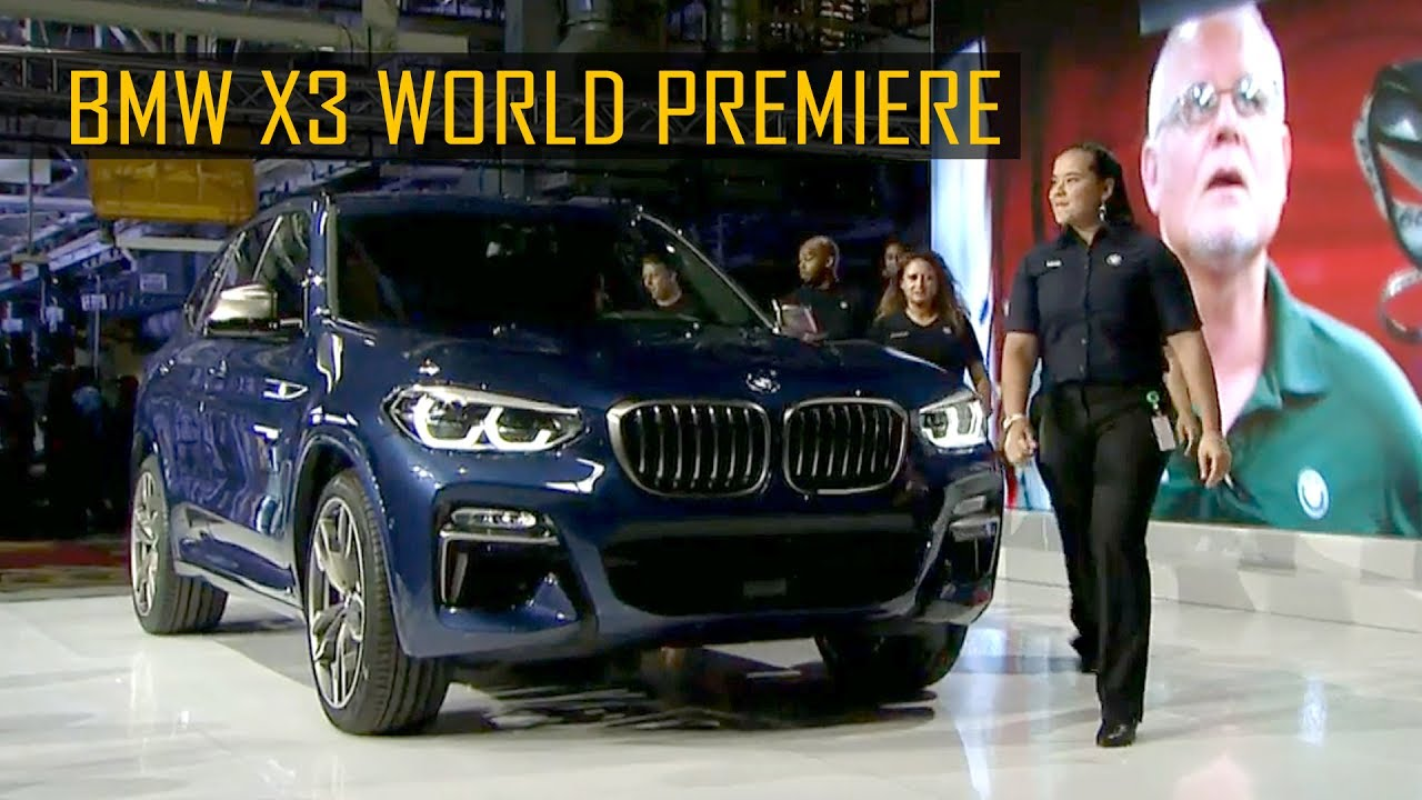 2018 bmw usa x3. wonderful 2018 2018 bmw x3 world premiere in spartanburg south carolina usa for bmw usa x3