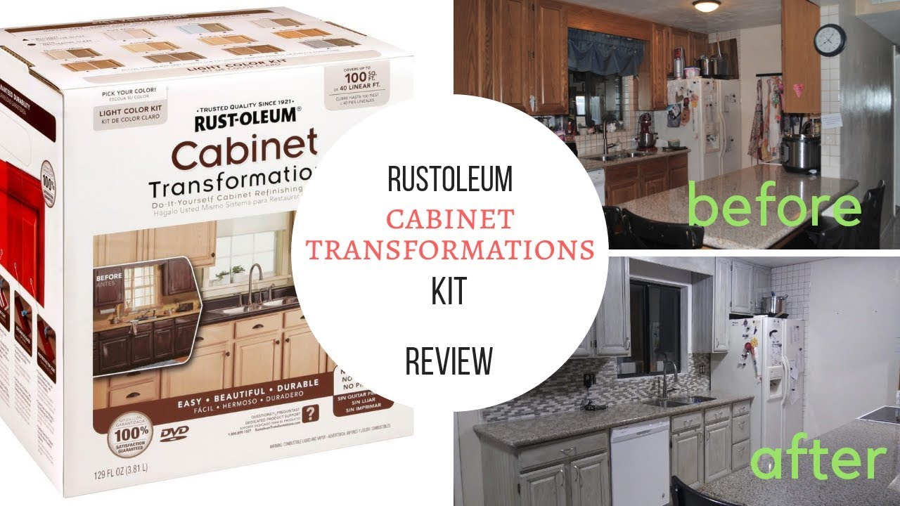 Rustoleum Cabinet Transformations Kit Review And Mini Tutorial Youtube