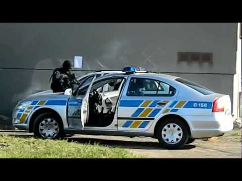 Zásah policie ČR - ukázka