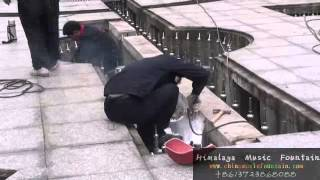 installion of outdoor fountain China changsha Himalaya Music Fountain