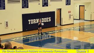 FULL GAME 7th Grade Volleyball Eastwood MS Raiders vs Hornedo Tornadoes