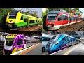 Учим цвета и поезда для детей. Развивающее видео про железнодорожный транспорт