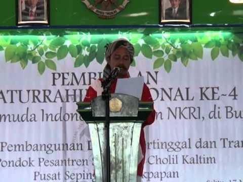 Sambutan Ketua Umum Konsain  Di Acara Pembukaan Silaturrahim Nasional ke-4 Santri & Pemuda indonesia