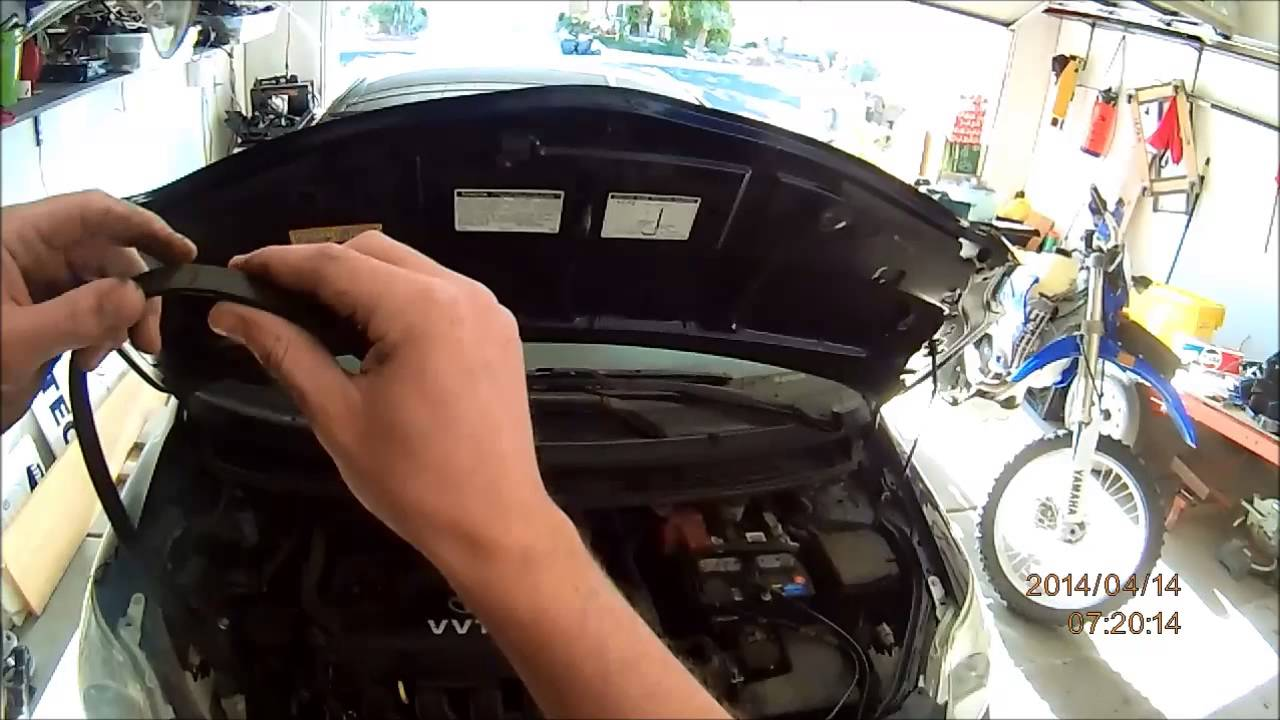small resolution of replacing serpentine belt on a 2007 toyota yaris 5qj8h