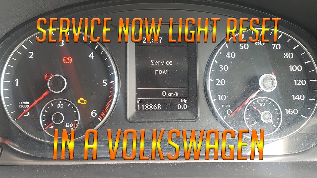 RESET service now light on a volkswagen vw DIY TUTORIAL