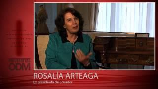 Rosalia Arteaga, Ex presidenta de Ecuador - Universitas ODM