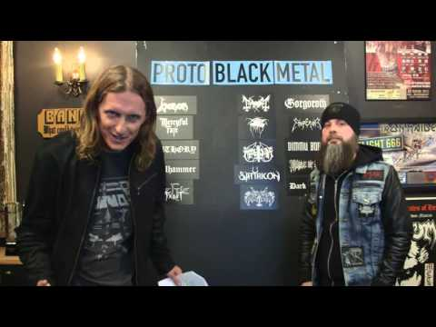 LOCK HORNS   EARLY BLACK METAL band debate with Jason Deaville