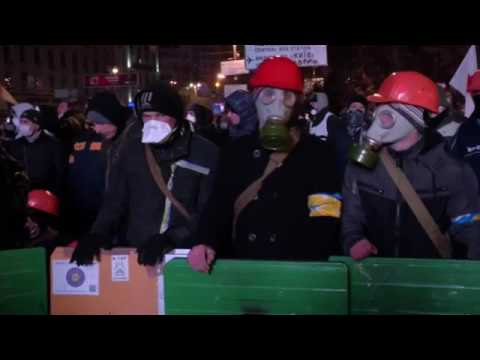 Dozens injured in Ukraine Protests