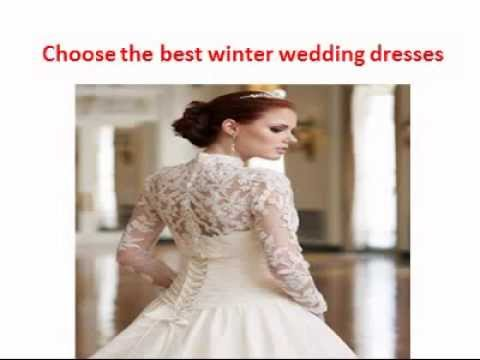 The best winter wedding dresses - YouTube