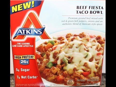 Atkins: Beef Fiesta Taco Bowl Review from YouTube · Duration:  4 minutes 5 seconds