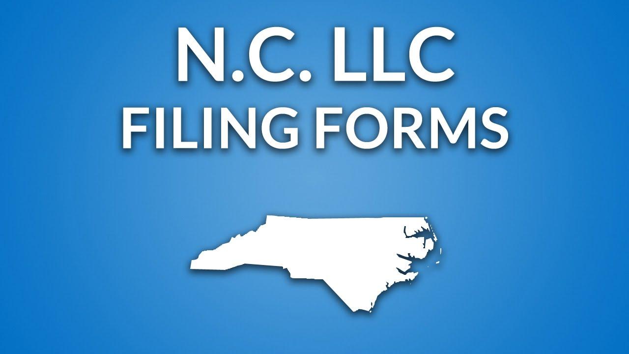 North Carolina Llc Formation Documents Youtube