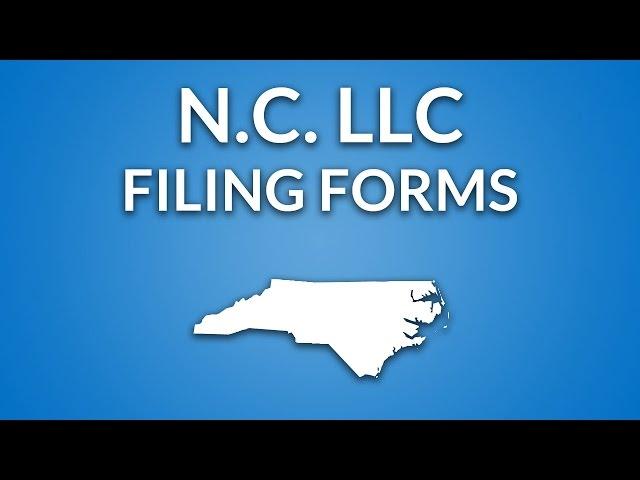 North Carolina Llc How To File Articles Of Organization Llc