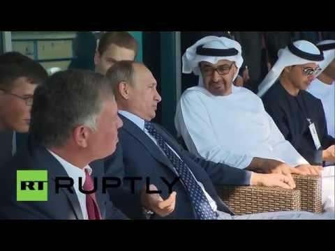 Russia: King of Jordan, Abu-Dhabi crown prince meet Putin at MAKS-2015