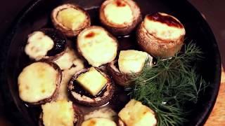 """Шампиньоны с сыром на кеци - Ресторан """"Tbilisi"""""""