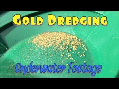 Gold Dredge- Underwater footage GOLD FOUND! (long arming)