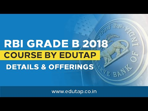 RBI Grade B 2018 Course  by EduTap - Details and Offerings