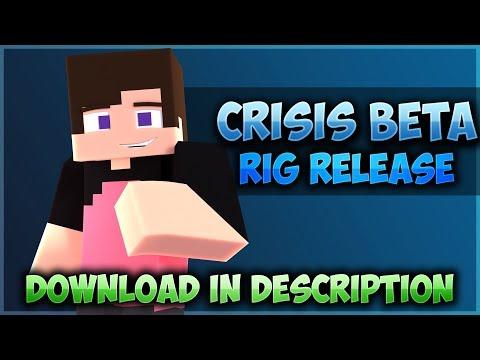 CrisisBeta Minecraft Blender Character Rig Release! (Download In Description!)
