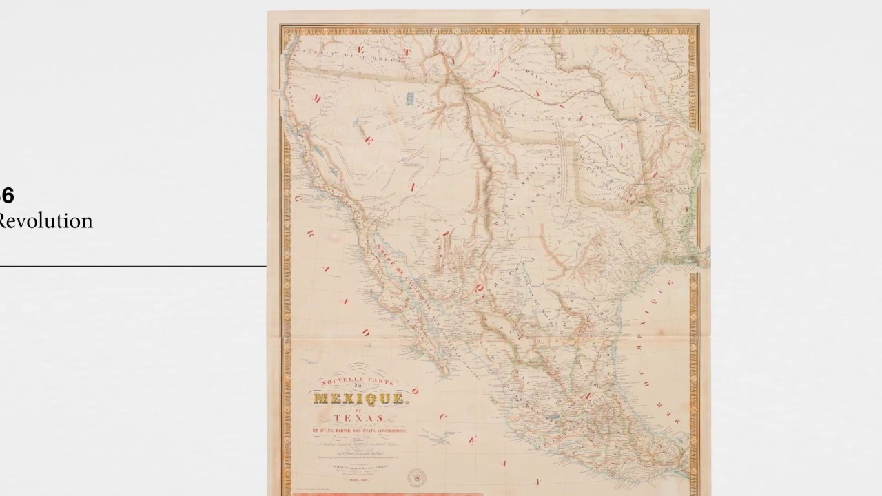 Map Of Texas 1840.1840 Brue Map Of Mexico And Texas