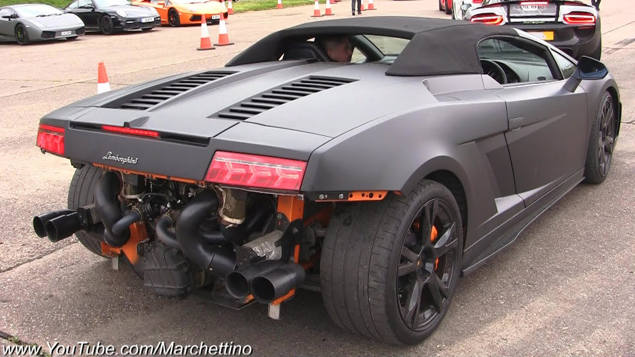 2x 1000hp Twin Turbo Lamborghini Gallardo Fast Accelerations
