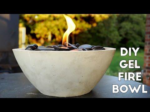 DIY Concrete Gel Fire Pit *EASY*    Modern Builds   EP. 5