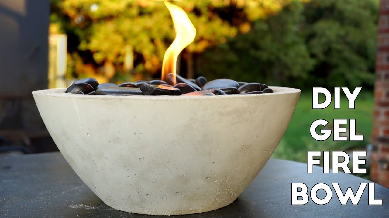DIY Concrete Gel Fire Pit *EASY* | Modern Builds | EP. 5 ...