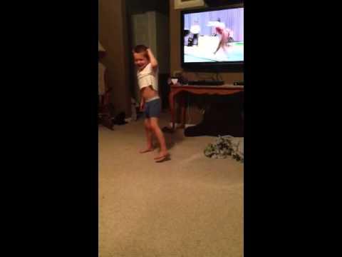 Underwear gymnast take 2