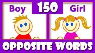 150 Opposite Words In English   Opposites For Kids   Antonyms & Synonyms List   Kids Vocabulary