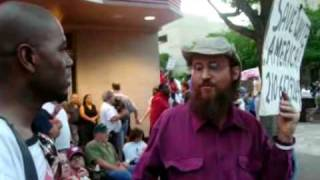 """Save White America"" Guy at San Antonio Tea Party"