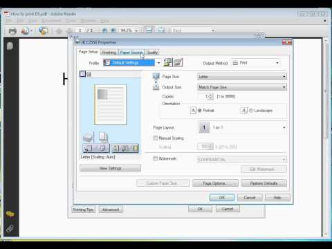 How To Print Double Sided On Canon Ir C2550 Youtube
