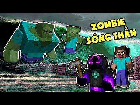 Minecraft: THỬ THÁCH ZOMBIE SÓNG THẦN - MƯA CHẤT ĐỘC AXIT!!!