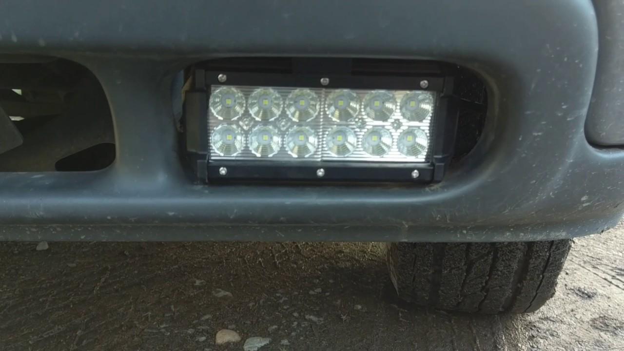 2001 Chevrolet Tahoe led fog light upgrade - YouTube