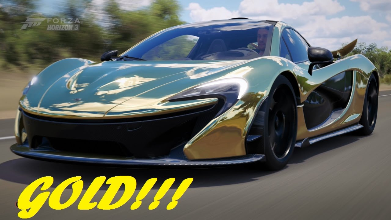 GOLD MCLAREN P1 Forza Horizon 3 Gameplay