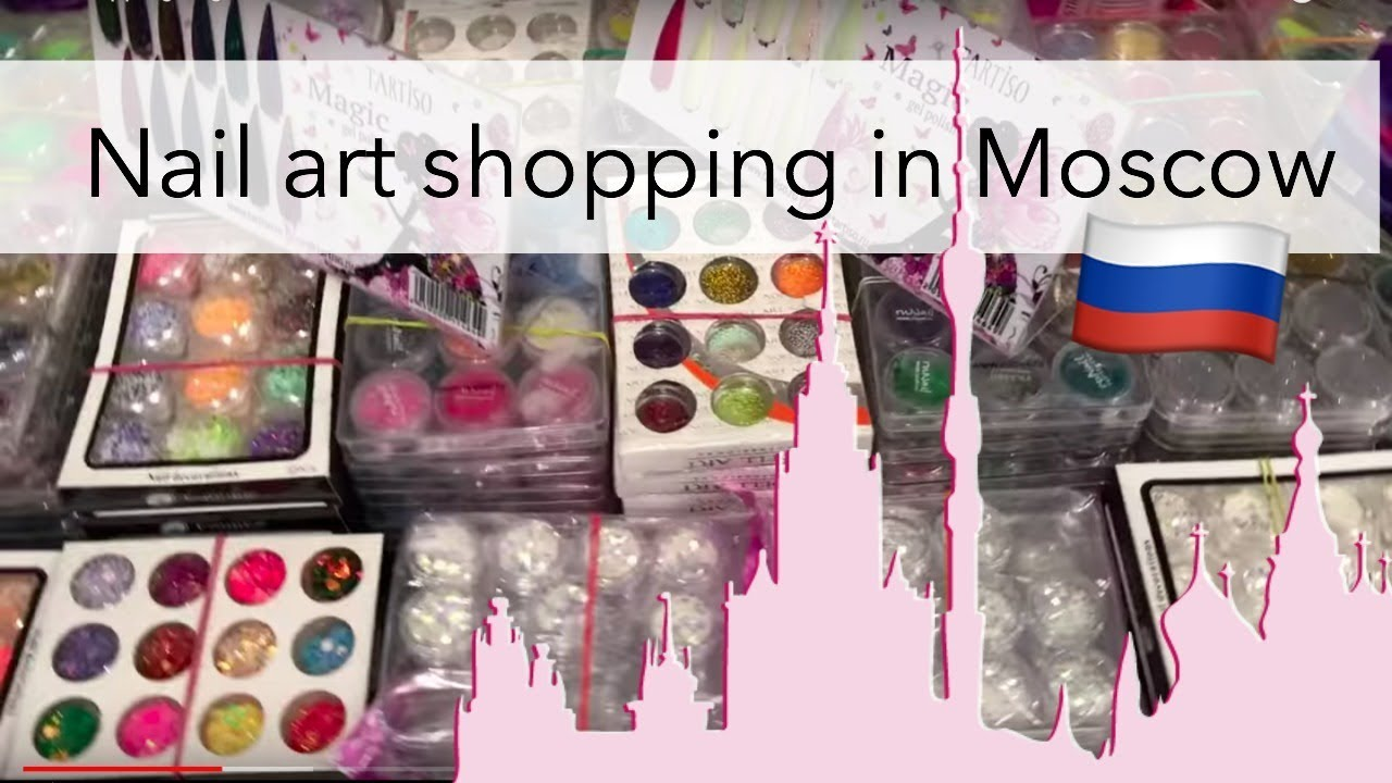 Nail art shopping haul in Russia 🇷🇺$3 Brushes & more - YouTube