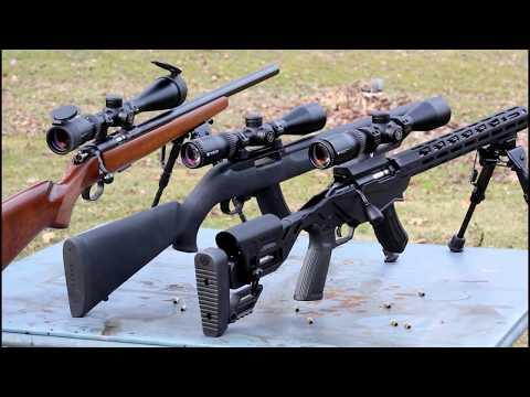 Ruger Precision Rimfire Vs CZ455 Vs 10/22 Target