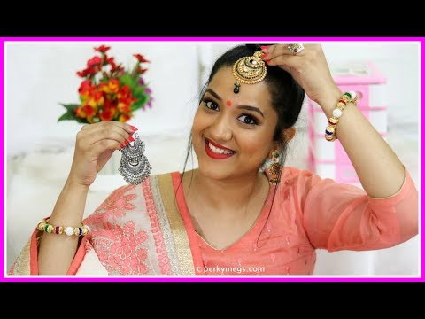8 Hacks for Indian Jewellery | Navratri/Festival/Wedding jewellery Hacks | Perkymegs