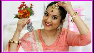 8 Hacks for Indian Jewellery | Navratri/Festival/Wedding jewellery Hacks | Perkymegs