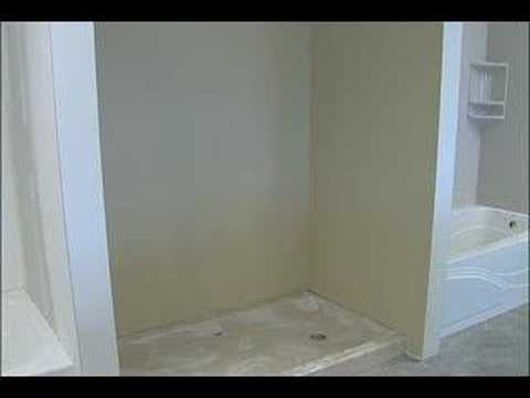 Cultured Marble Shower Stall Installation: Step 1   YouTube