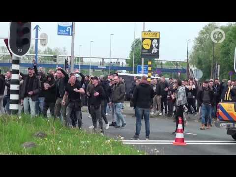 VIDEO: Vitesse-fans joelen Twente uit bij vertrek uit Arnhem