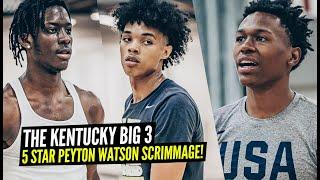 Kentucky's Brandon Boston, Devin Askew, T Clarke + 5 Star Peyton Watson BATTLE It Out In Scrimmages!