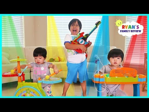 Ryan Emma and Kate Pretend Play Starting a Band!!!