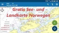 Norwegen - Gratis Seekarte / Landkarte