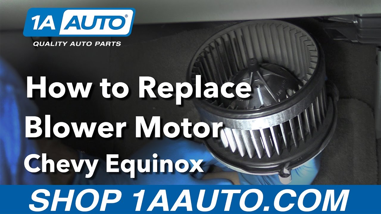 how to replace install blower motor 2006 15 chevy equinox